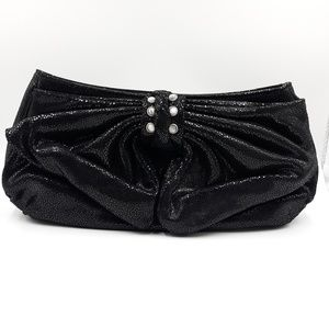 Judith Ripka Sparkling Leather Hand Clutch